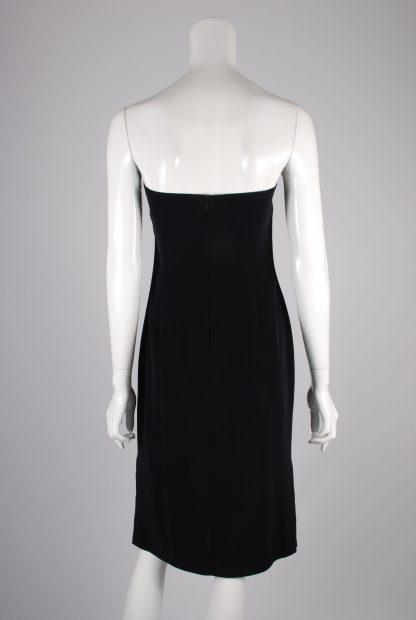 Jasper Conran Black Sleeveless Dress - Size 12 - Back