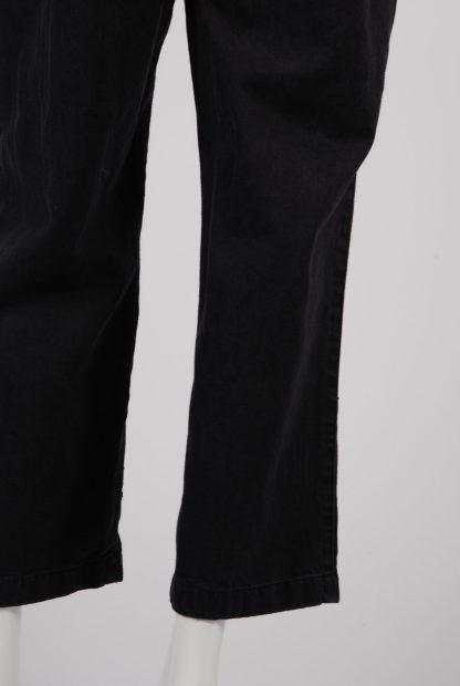 ASOS Black Distressed Denim Jumpsuit - Size 12 - Leg