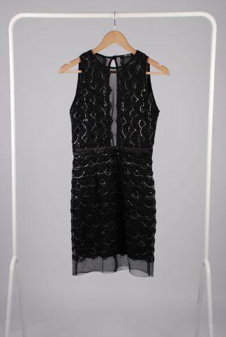TFNC London Black Sequin Dress - Size 12 - Front