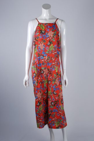 Primark Red Floral Playsuit - Size 18 - Front
