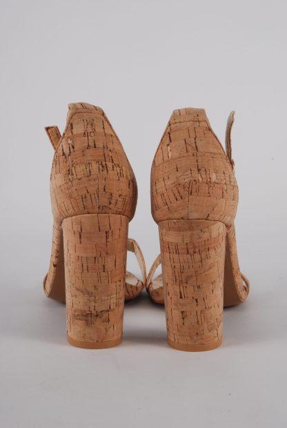 Glamorous Cork Style Strappy Heels - Size 5 - Back Detail