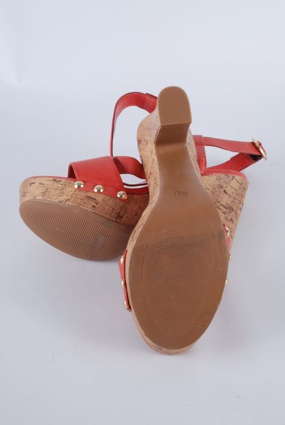 Limited Collection Red Cork Sole Sandals - Size 4.5 - Sole