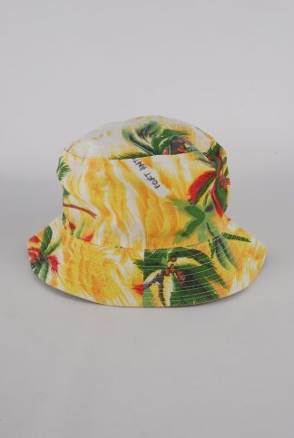 Tropical Print Bucket Hat - Front