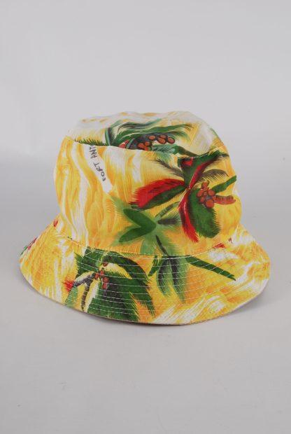Tropical Print Bucket Hat - Back