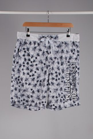 Twisted Soul Hibiscus Print Board Shorts - Size L - Front