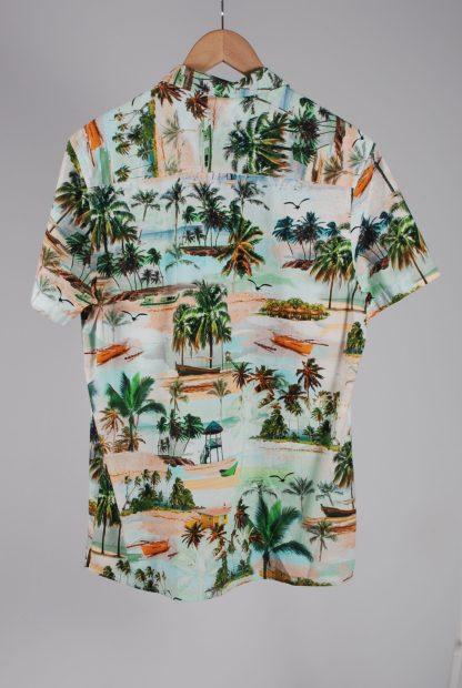 Jacamo Tropical Beach Print Shirt - Size M - Back