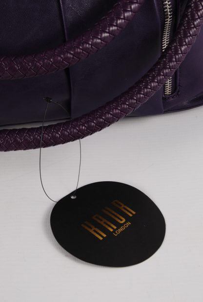 Kaur London Purple Shoe Clasp Handbag - Tag