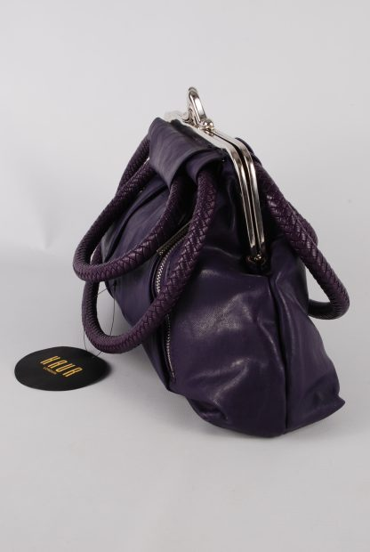 Kaur London Purple Shoe Clasp Handbag - Side
