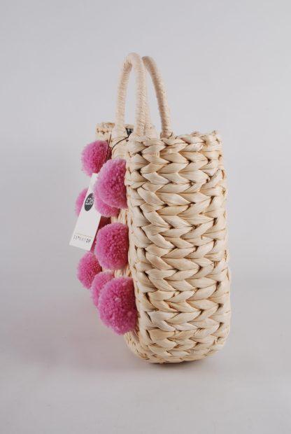 Skinny Dip Pom Pom Weave Bag - Side