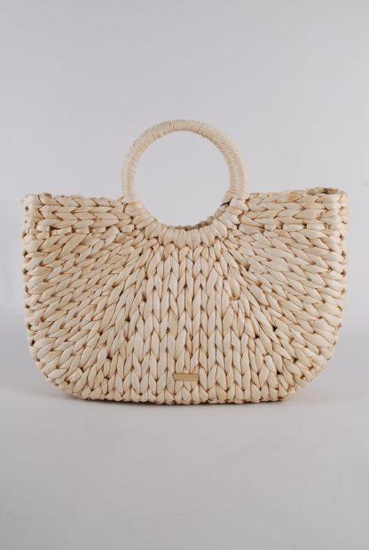 Skinny Dip Pom Pom Weave Bag - Back