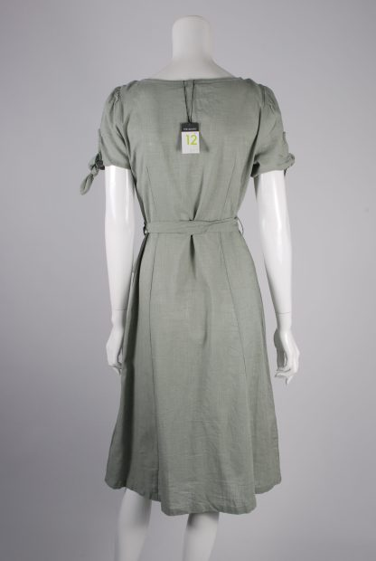 Primark Green Button Front Dress - Size 12 - Back