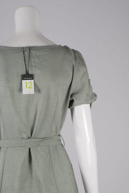 Primark Green Button Front Dress - Size 12 - Back Detail