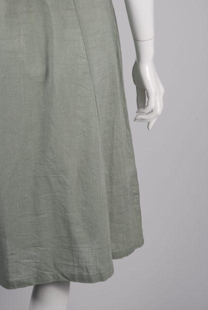 Primark Green Button Front Dress - Size 12 - Back Hem