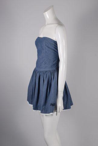 Superdry Bandeau Skater Dress - Size M - Side