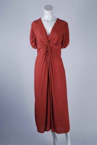 ASOS Orange Twist Jumpsuit - Size 12 - Front