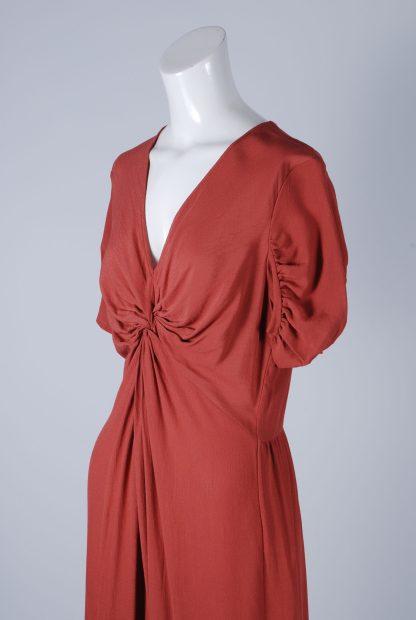 ASOS Orange Twist Jumpsuit - Size 12 - Side Detail
