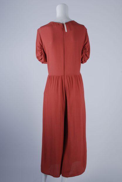 ASOS Orange Twist Jumpsuit - Size 12 - Back