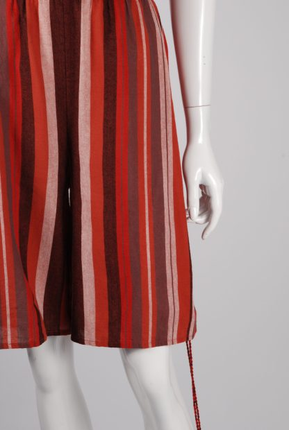 Unique Collections Red Striped Playsuit - Size 16 - Front Hem