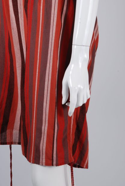 Unique Collections Red Striped Playsuit - Size 16 - Side Hem