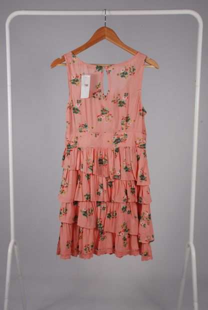 New Look Pink Floral Dress - Size 12 - Back