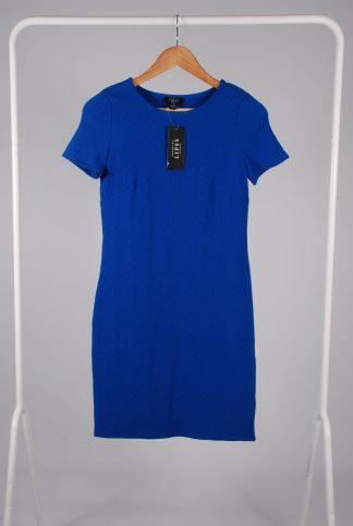Lipsy Blue Bodycon Dress - Size S - Front