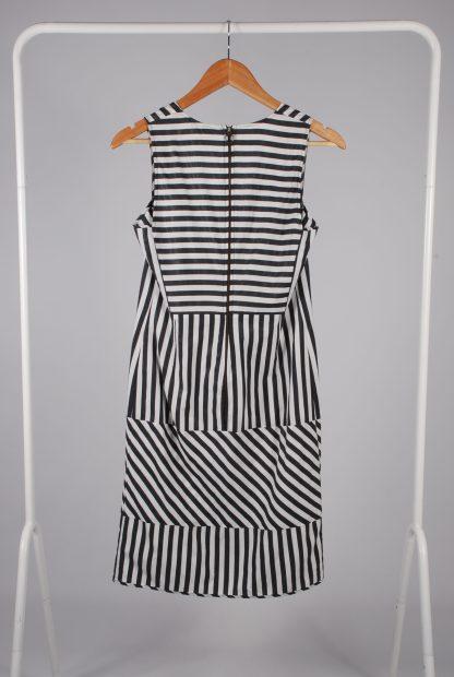 Farhi By Nicole Farhi Grey Stripe Dress - Size 6 - Back