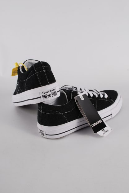 Converse All Star Black Suede Trainers - Size 7 - Back