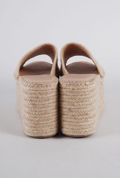 Truffle Collection Woven Platform Sandals - Size 6 - Back Detail