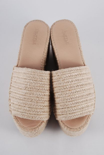 Truffle Collection Woven Platform Sandals - Size 6 - Front Detail