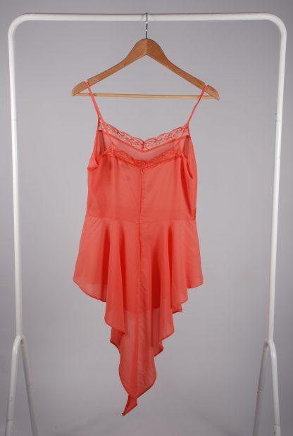 Miss Selfridge Coral Cami Top - Size 10 - Back