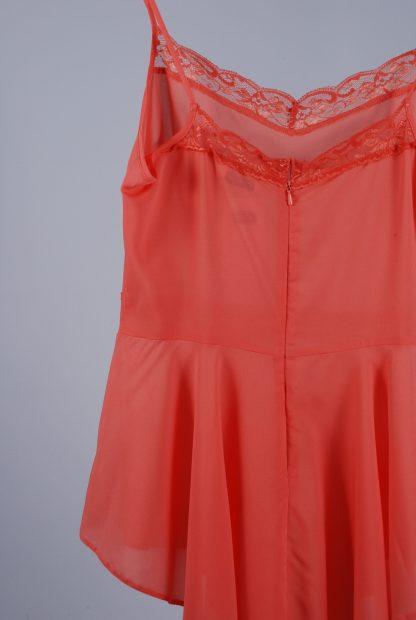 Miss Selfridge Coral Cami Top - Size 10 - Back Detail