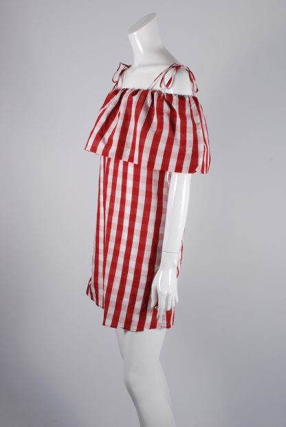 Mango Red & White Gingham Dress - Size S - Side