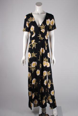 Miss Selfridge Floral Maxi Dress - Size 10 - Front