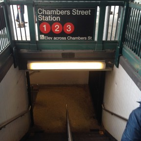 Chambers Street Station.