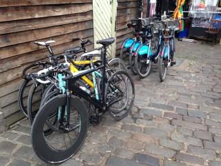The bikes.