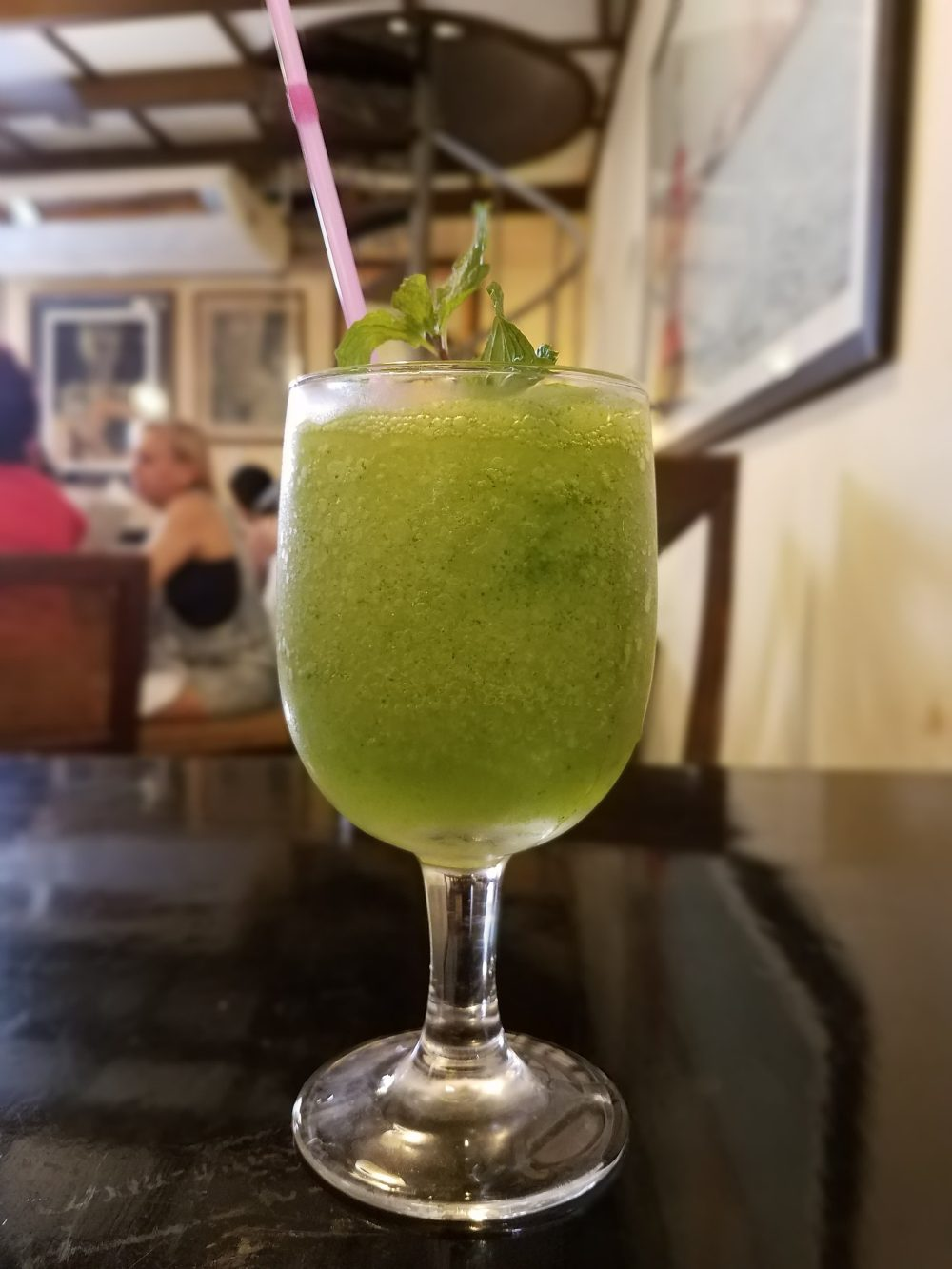 The Mojito Frappe is a MUST to try! Take a break from the heat and cool off with this cold, tasty version of a mojito. You won't be disappointed!