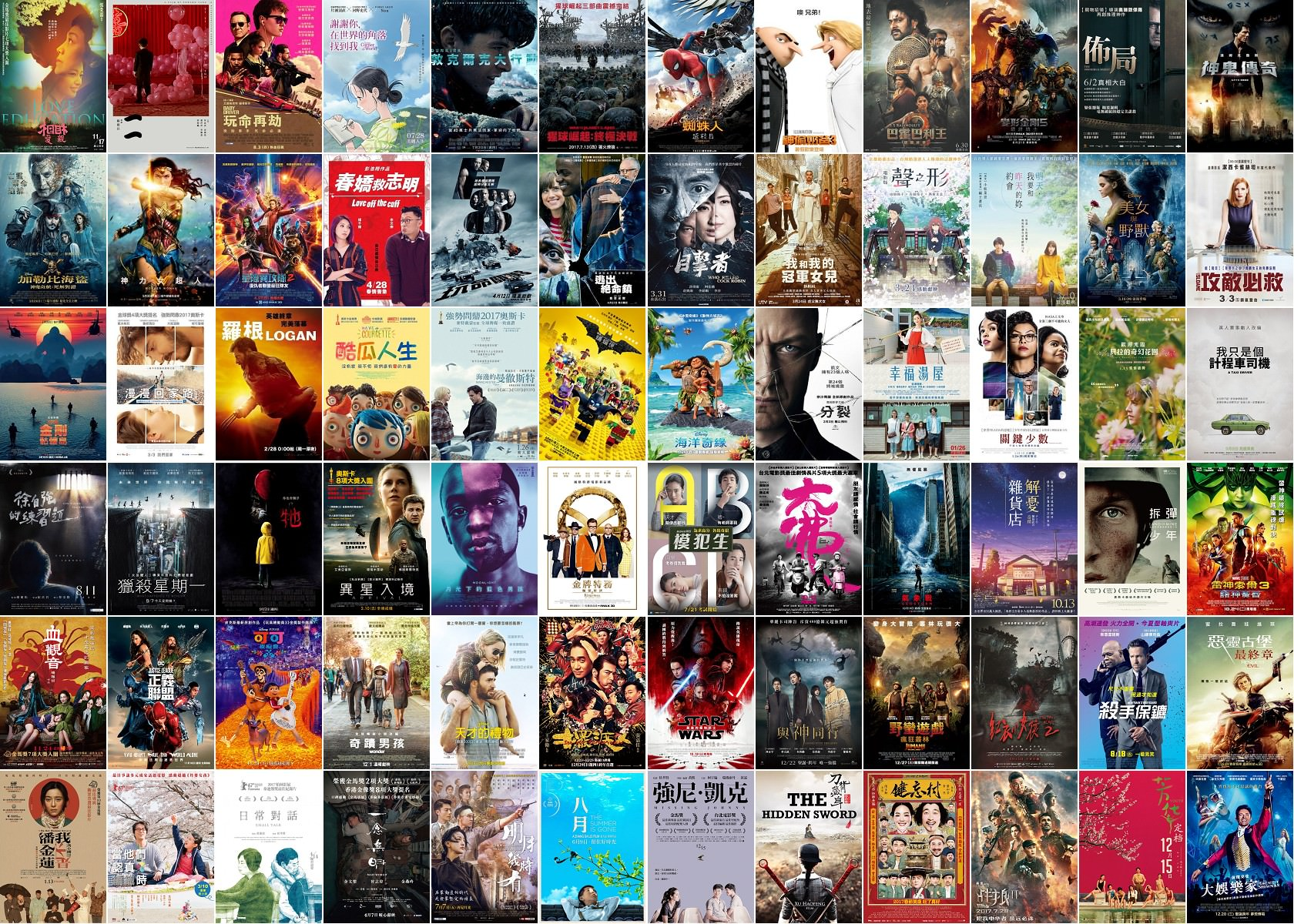 年度推薦電影, 2017年