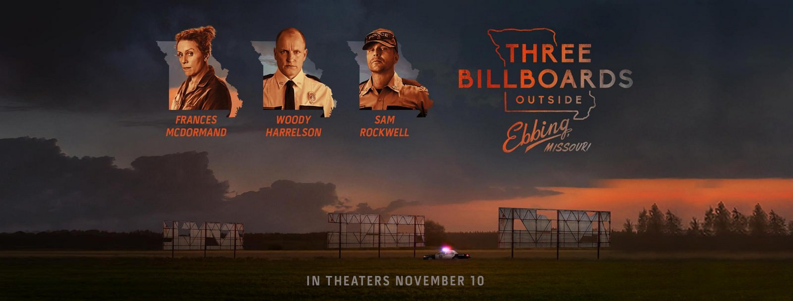 Movie, Three Billboards Outside Ebbing, Missouri(美國.英國) / 意外(台) / 廣告牌殺人事件(港) / 三块广告牌(網), 電影海報, 美國, 橫版