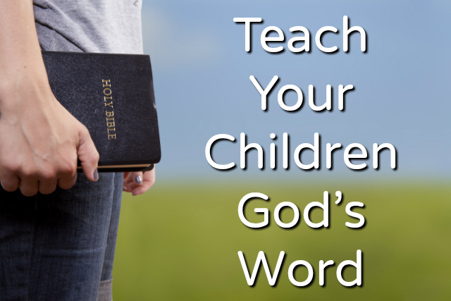 Image result for teaching children the word of GOD