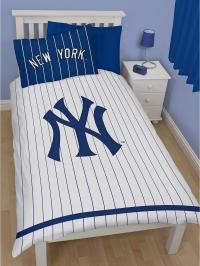 NEW YORK YANKEES SINGLE DUVET QUILT COVER KIDS MAJOR ...