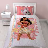 NEW DISNEY MOANA SINGLE DUVET QUILT COVER SET GIRLS KIDS ...