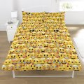 New emoji double duvet quilt cover bedroom set boys girls kids bedroom