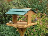 KINGFISHER - WOODEN BIRD TABLE GARDEN BIRDS FEEDER FEEDING ...