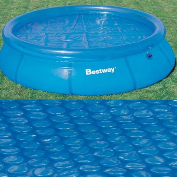 Bestway 10ft Superb Quality Solar Pool Cover Protector - Sunlight Heats