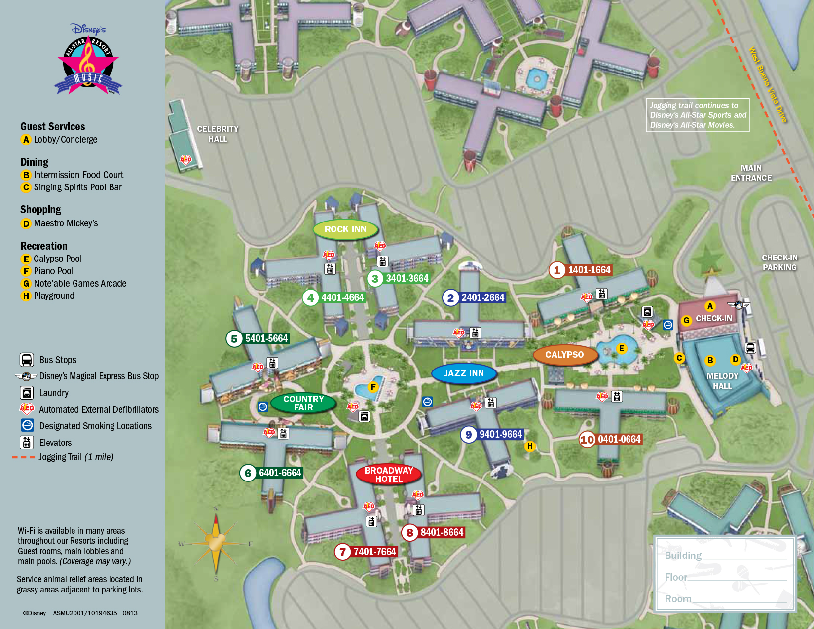 All Star Music Resort Map Walt Disney World