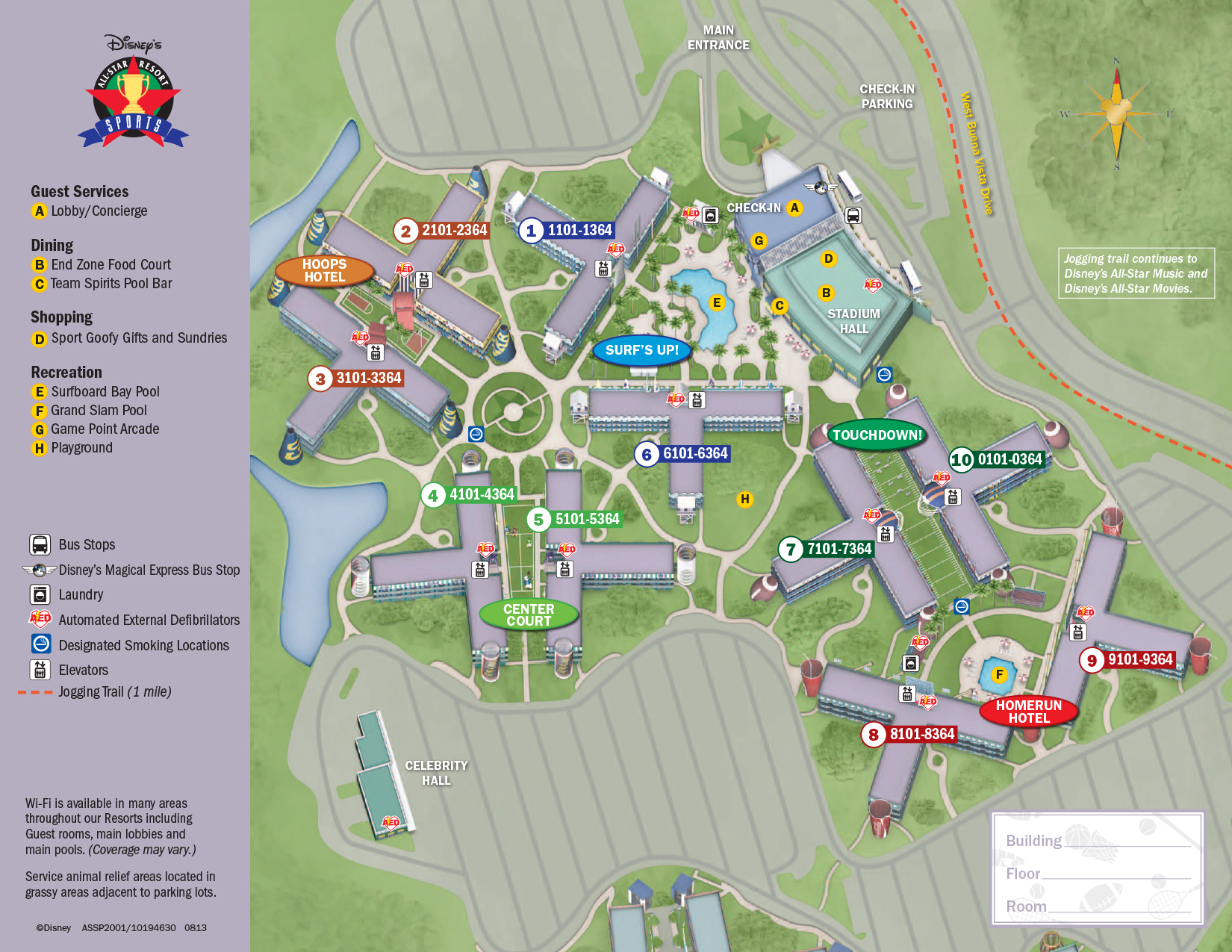 All Star Sports Resort Map | KennythePirate\'s Unofficial ...