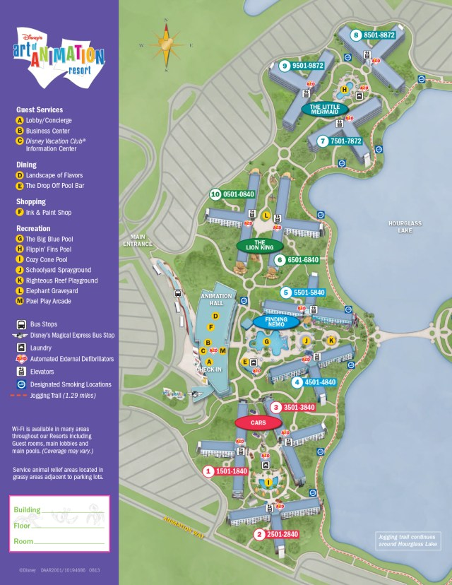 Art of Animation Resort Map Walt Disney World