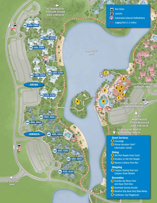 Caribbean Beach Resort Map Walt Disney World