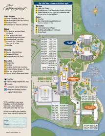 Walt Disney World Contemporary Resort Map