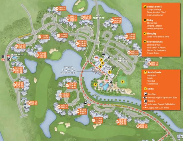 Old Key West Resort Map Walt Disney World